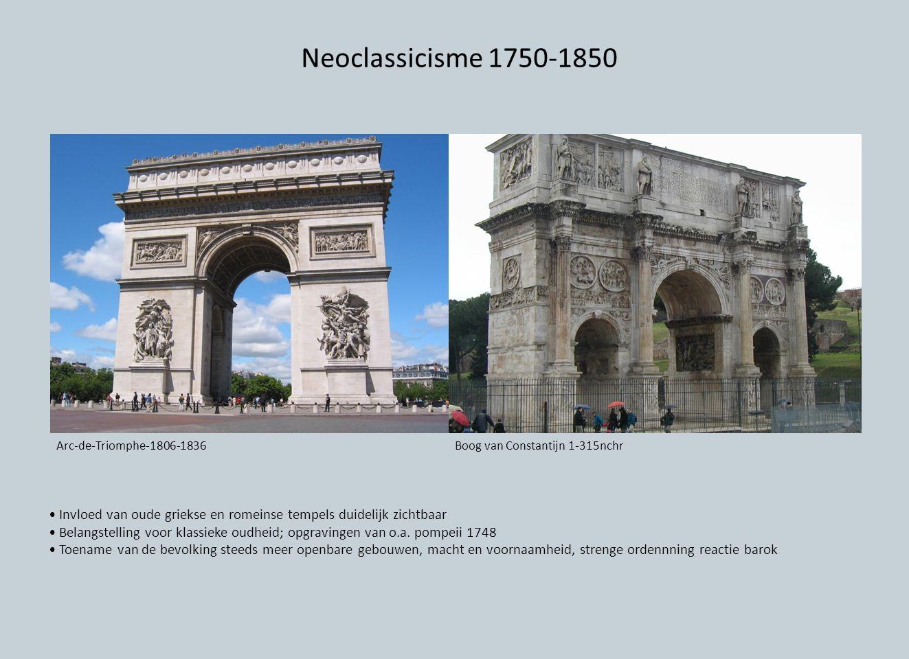 Neoclassicisme 1750-1850 Arc-de-Triomphe-1806-1836. Boog van Constantijn 1-315nchr.
