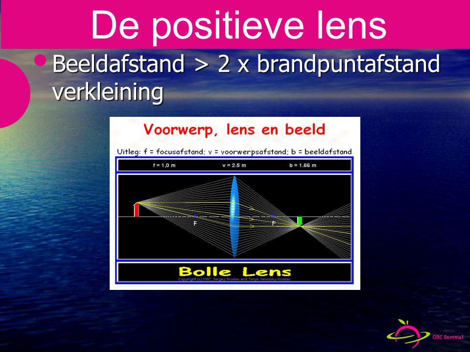 Beeldafstand > 2 x brandpuntafstand verkleining