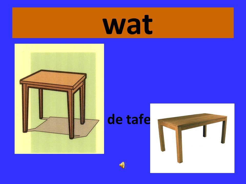 wat de tafel