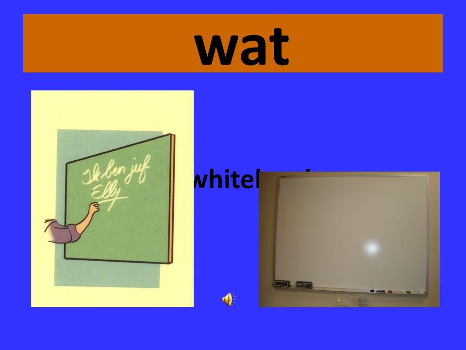 wat het whitebord
