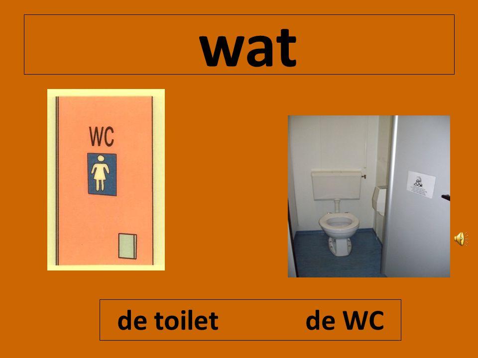 wat de toilet de WC