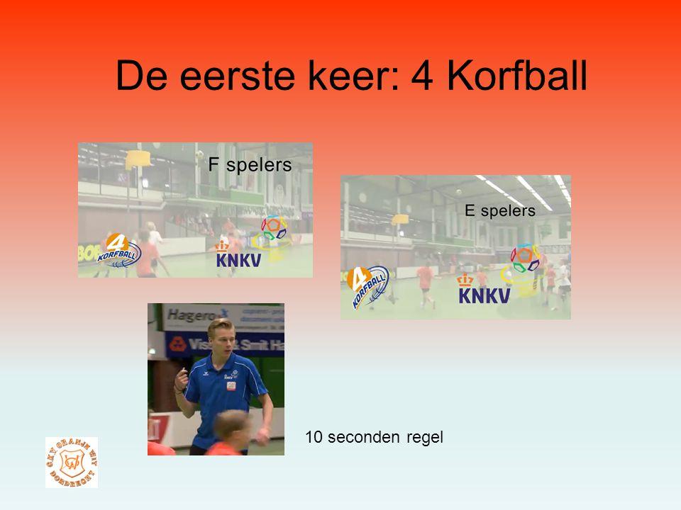 De eerste keer: 4 Korfball