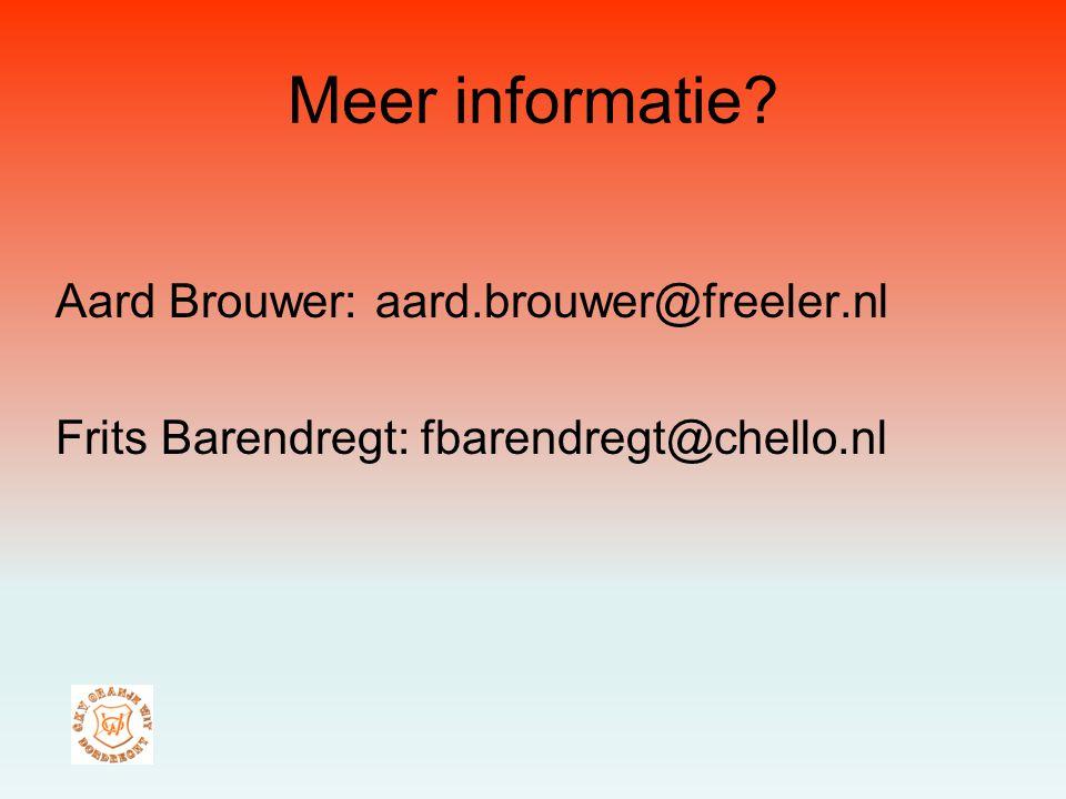 Meer informatie Aard Brouwer: aard.brouwer@freeler.nl