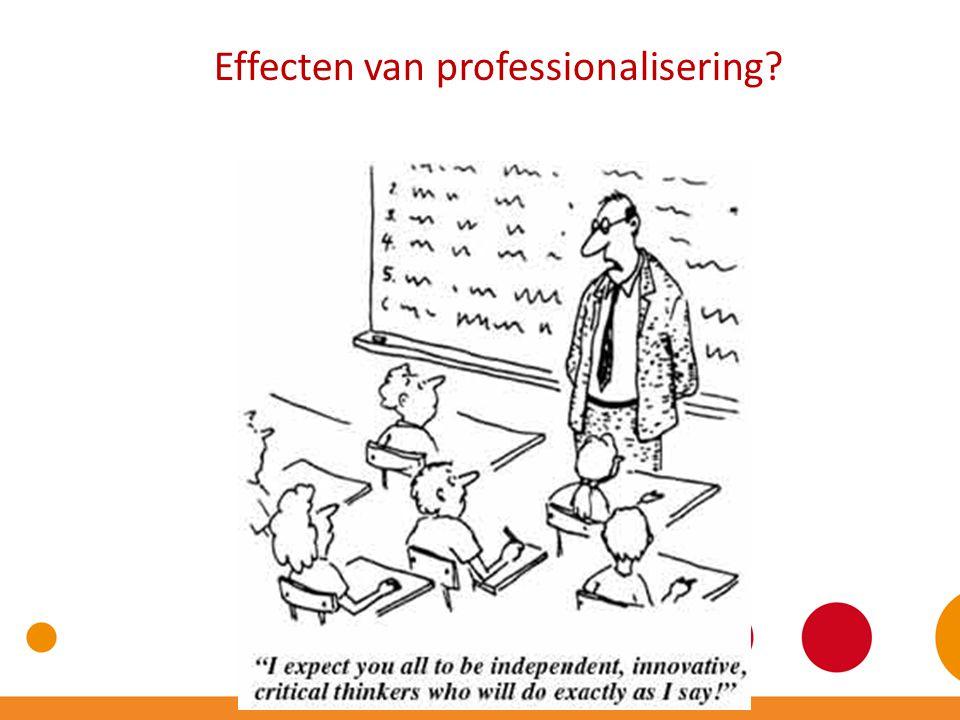 Effecten van professionalisering