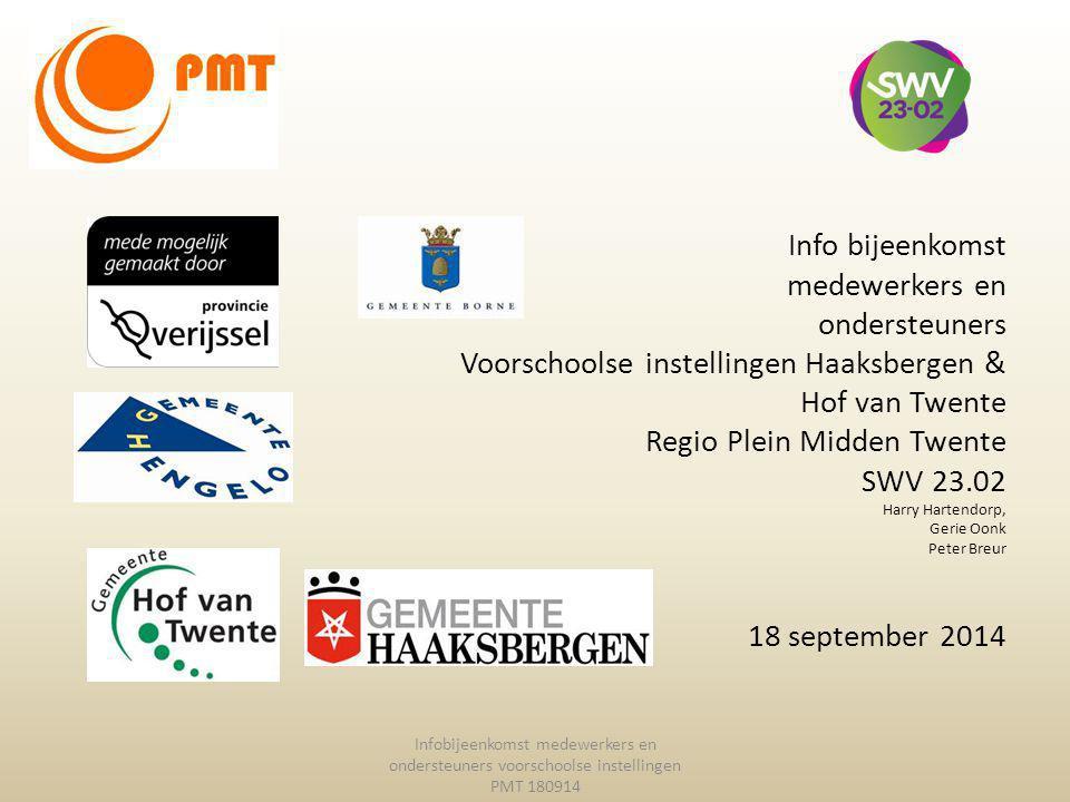 Voorschoolse instellingen Haaksbergen & Hof van Twente
