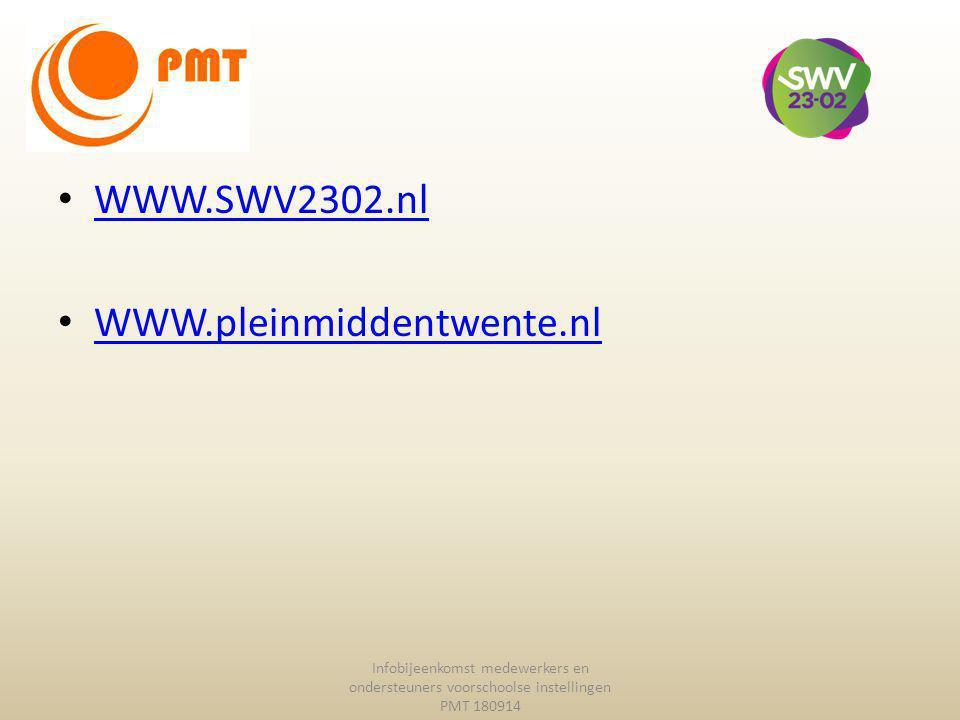 WWW.SWV2302.nl WWW.pleinmiddentwente.nl