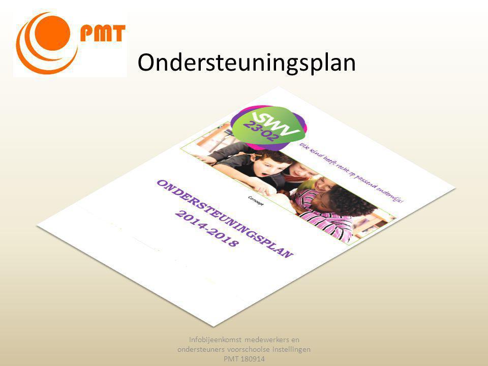 Ondersteuningsplan Infobijeenkomst medewerkers en ondersteuners voorschoolse instellingen PMT 180914.