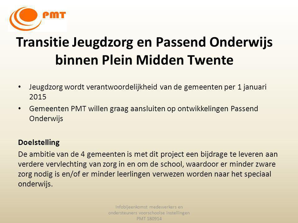 Transitie Jeugdzorg en Passend Onderwijs binnen Plein Midden Twente