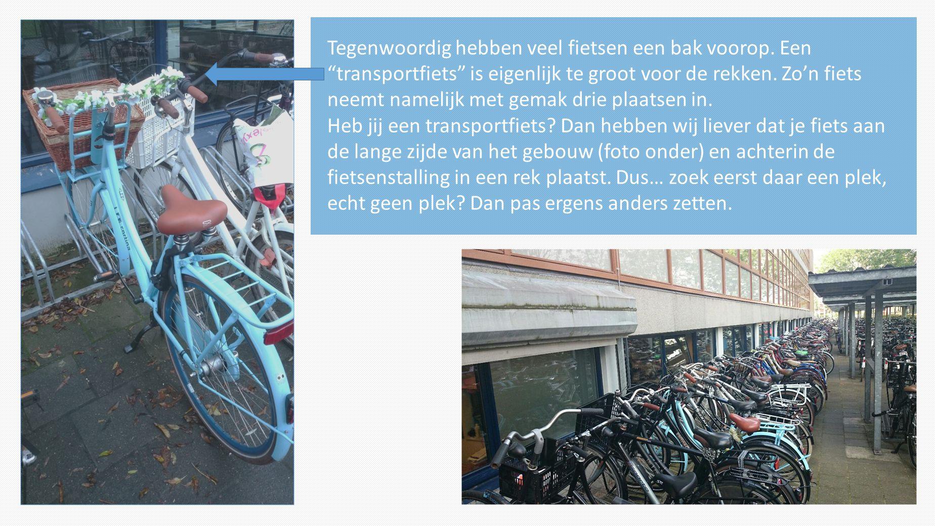 Tegenwoordig hebben veel fietsen een bak voorop