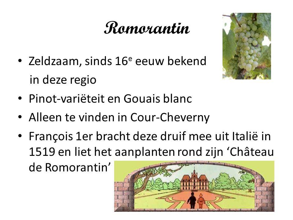 Romorantin Zeldzaam, sinds 16e eeuw bekend in deze regio