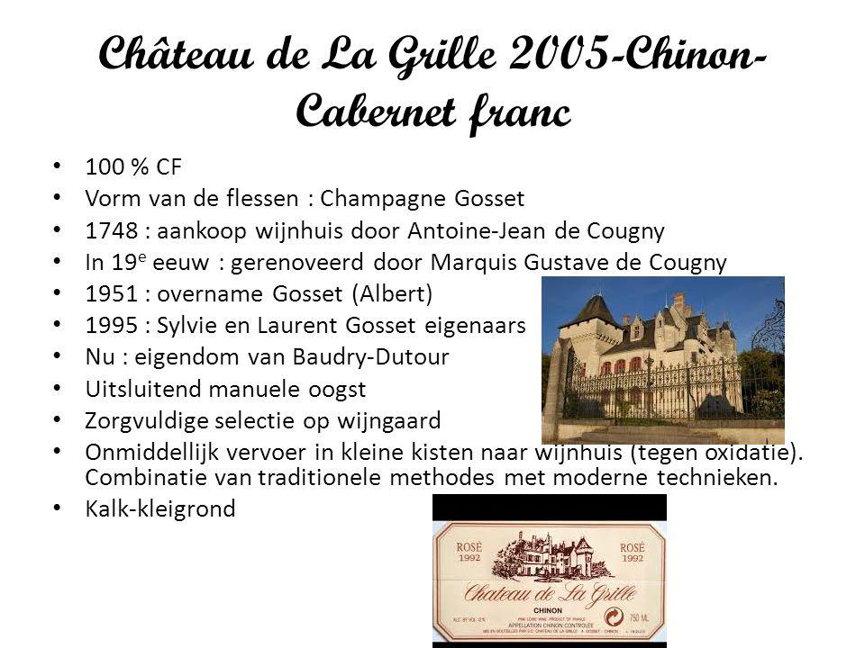 Château de La Grille 2005-Chinon- Cabernet franc