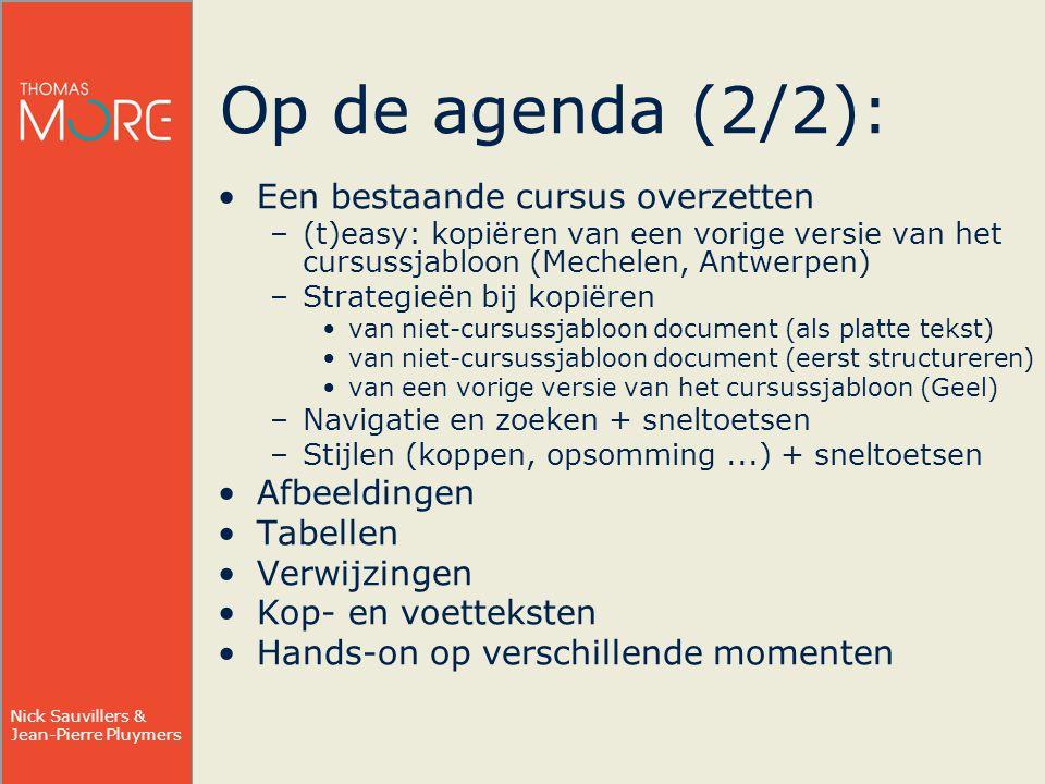 Op de agenda (2/2): Een bestaande cursus overzetten Afbeeldingen