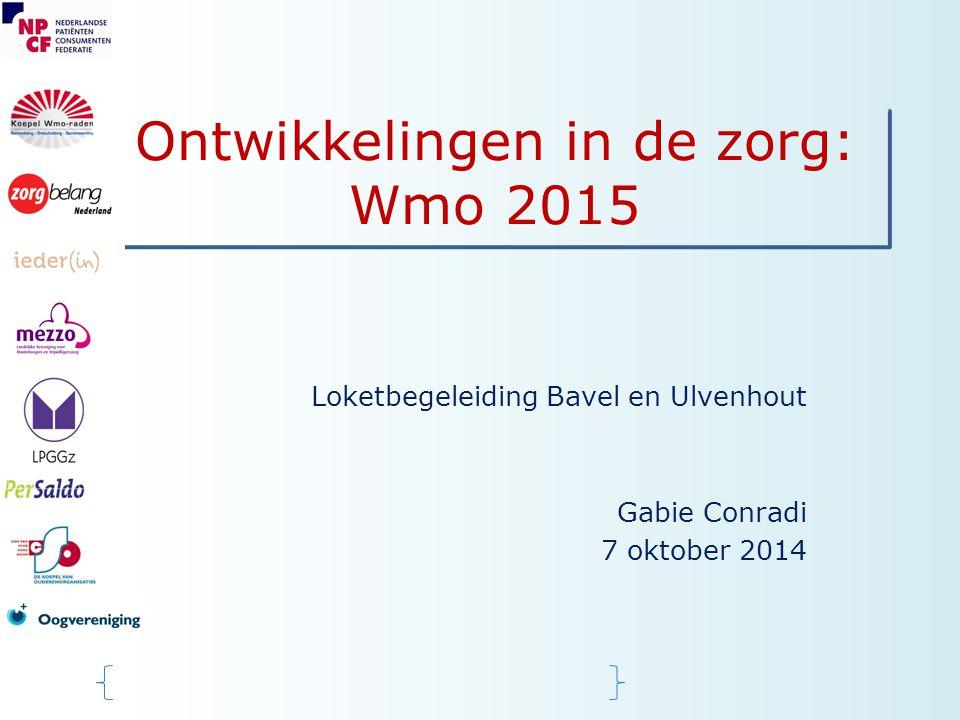 Ontwikkelingen in de zorg: Wmo 2015