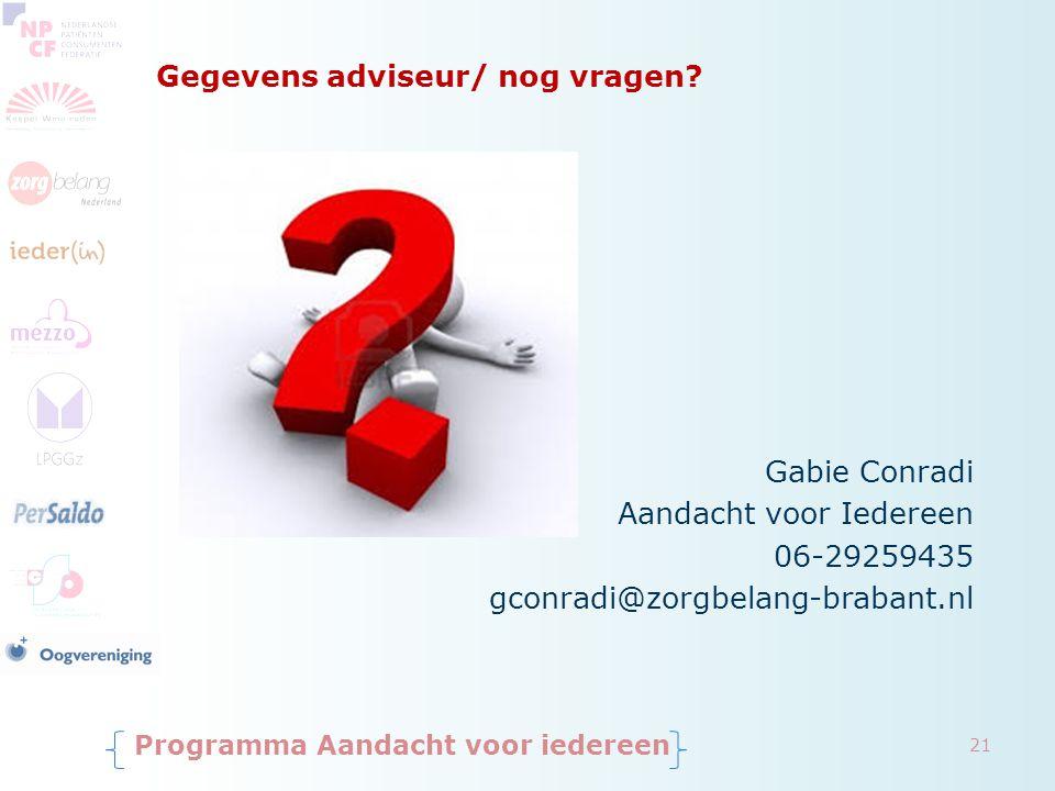 Gegevens adviseur/ nog vragen