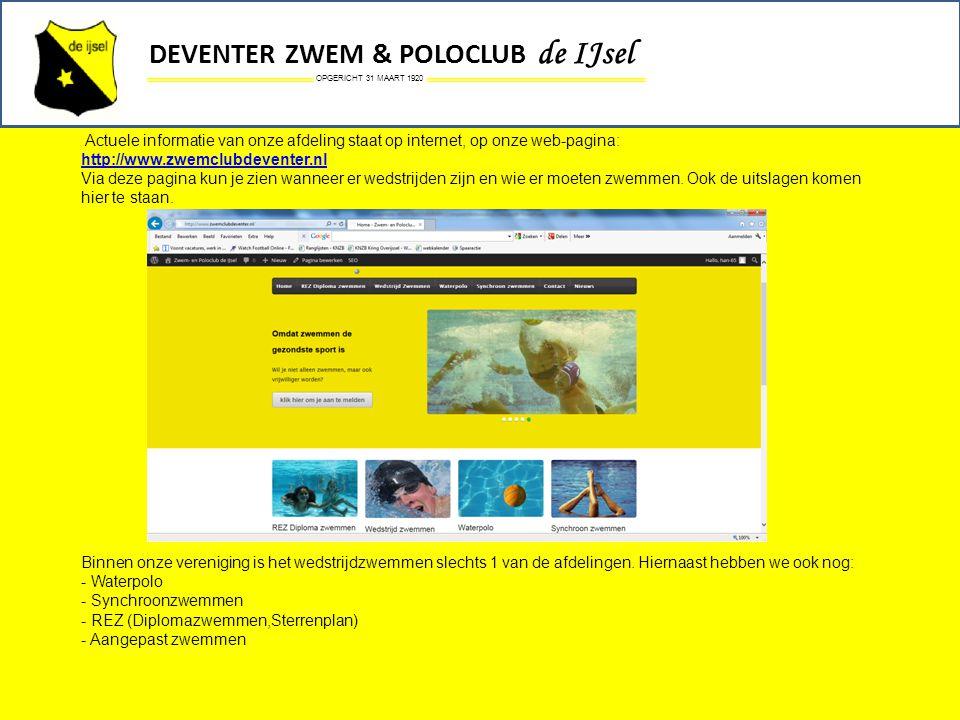 DEVENTER ZWEM & POLOCLUB de IJsel