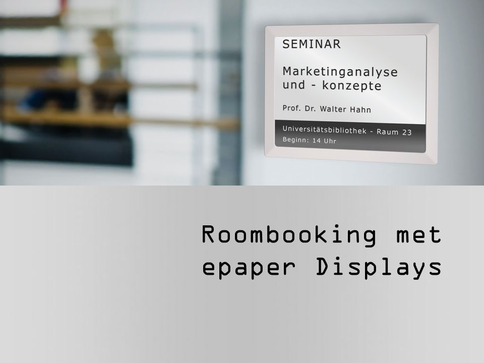 Roombooking met epaper Displays