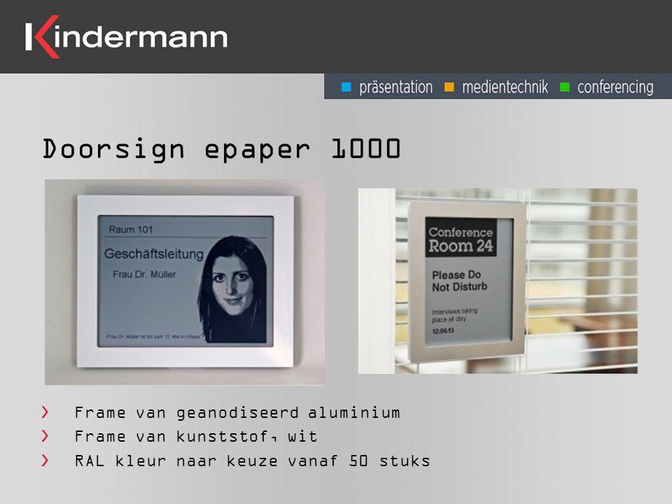 Doorsign epaper 1000 Frame van geanodiseerd aluminium