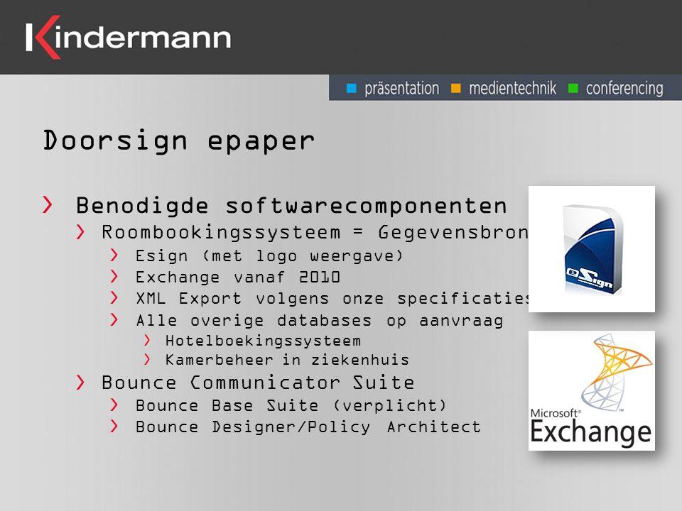 Doorsign epaper Benodigde softwarecomponenten