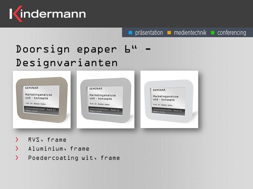 Doorsign epaper 6 - Designvarianten