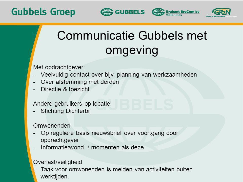 Communicatie Gubbels met omgeving