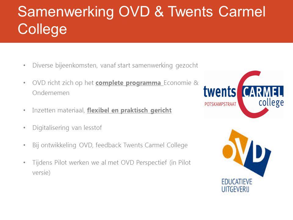 Samenwerking OVD & Twents Carmel College