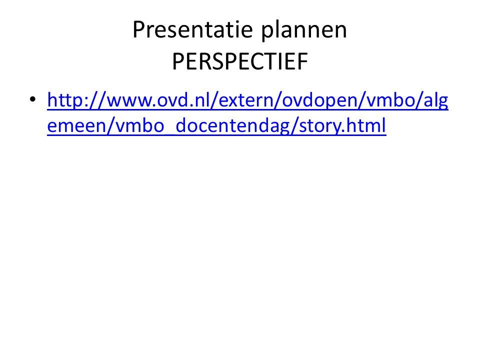 Presentatie plannen PERSPECTIEF