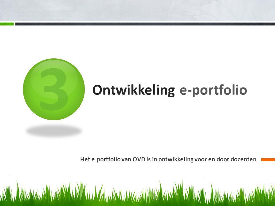 Ontwikkeling e-portfolio
