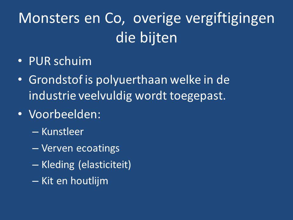 Monsters en Co, overige vergiftigingen die bijten