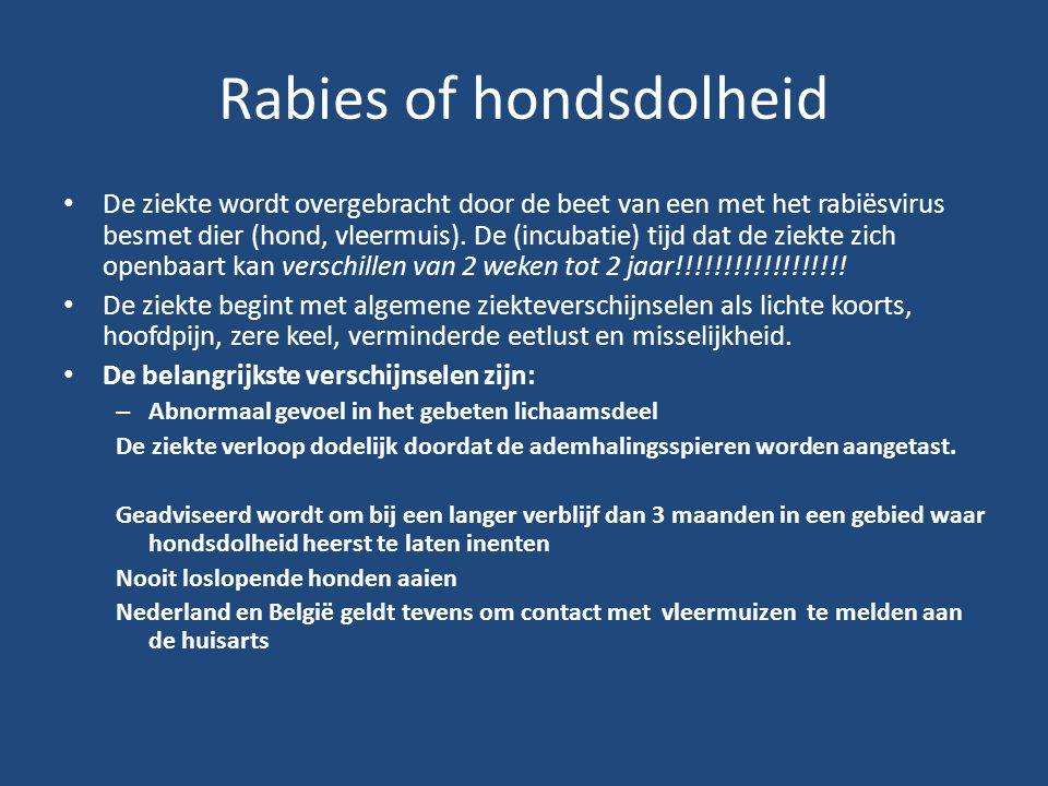 Rabies of hondsdolheid