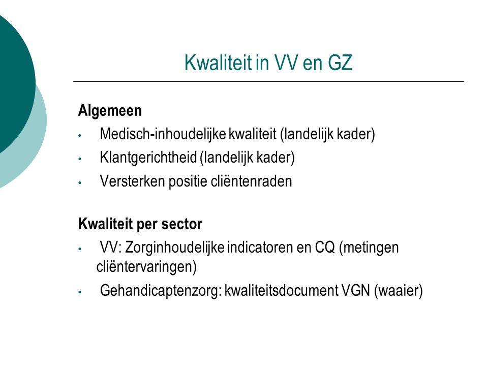 Kwaliteit in VV en GZ Algemeen
