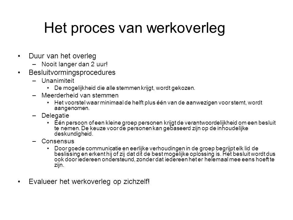 Het proces van werkoverleg