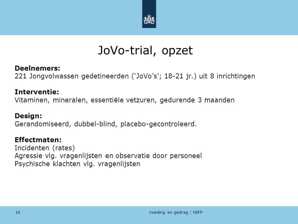 JoVo-trial, opzet Deelnemers: