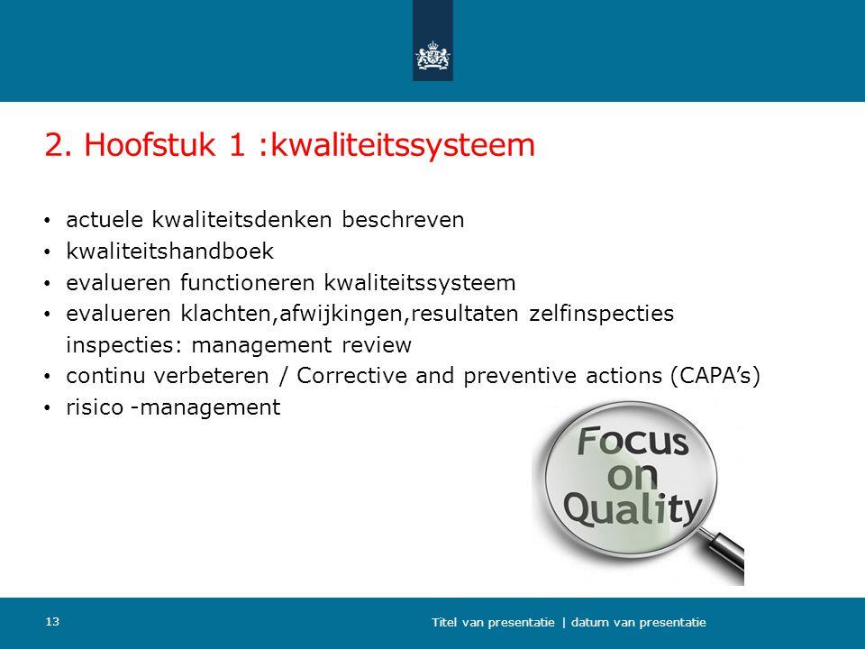 2. Hoofstuk 1 :kwaliteitssysteem