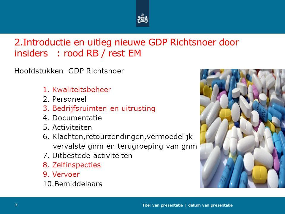 2.Introductie en uitleg nieuwe GDP Richtsnoer door insiders : rood RB / rest EM