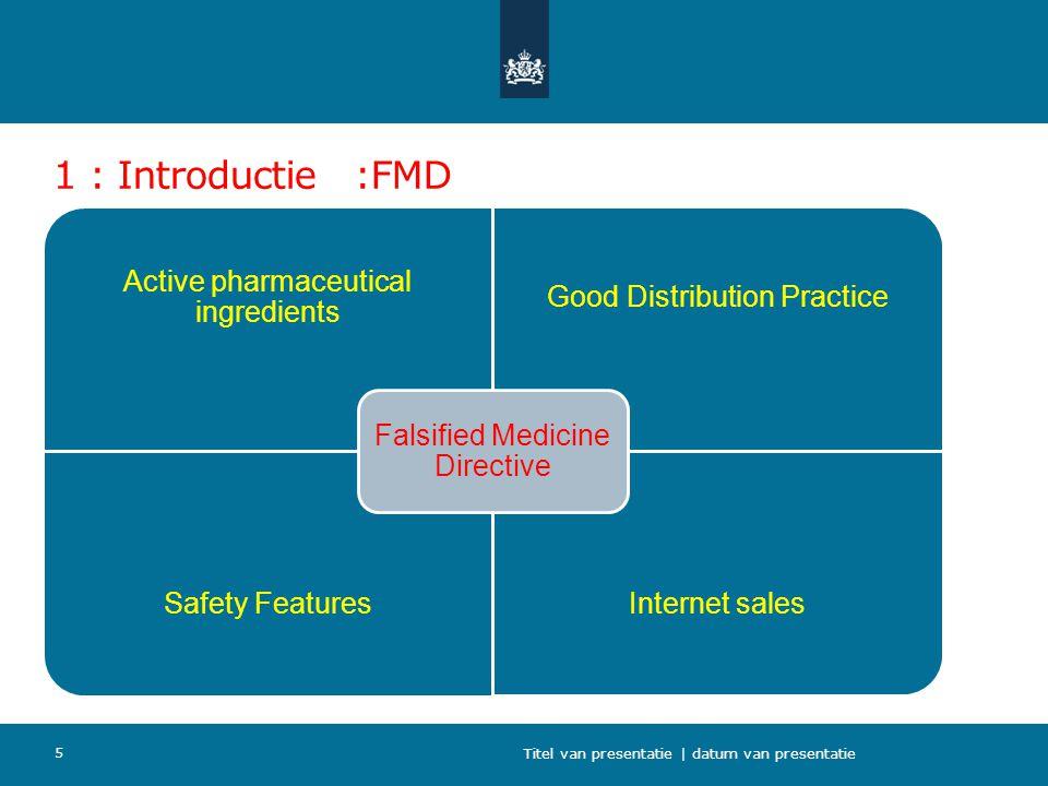 1 : Introductie :FMD Titel van presentatie | datum van presentatie