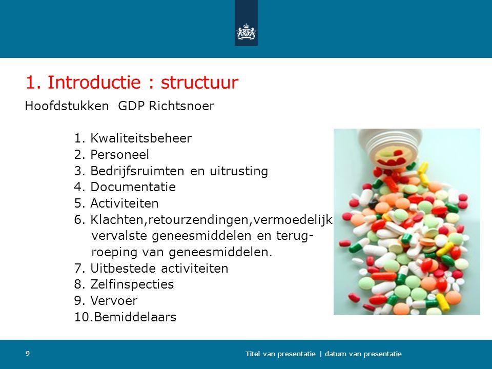 1. Introductie : structuur