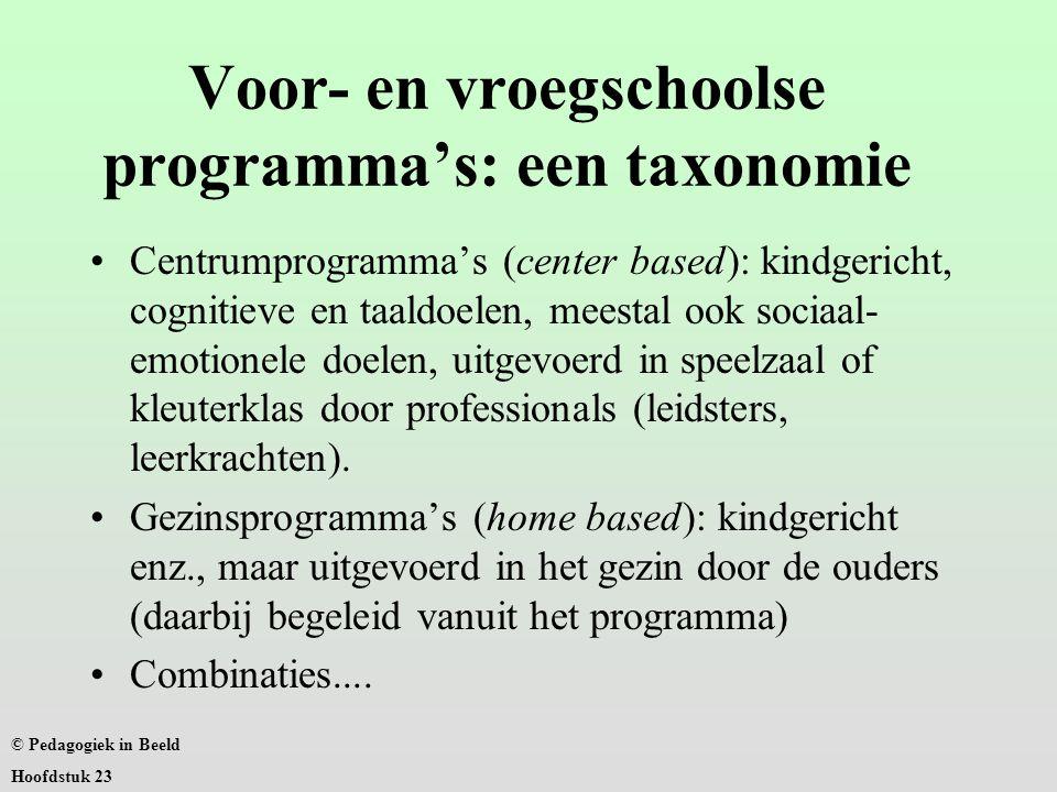 Voor- en vroegschoolse programma's: een taxonomie