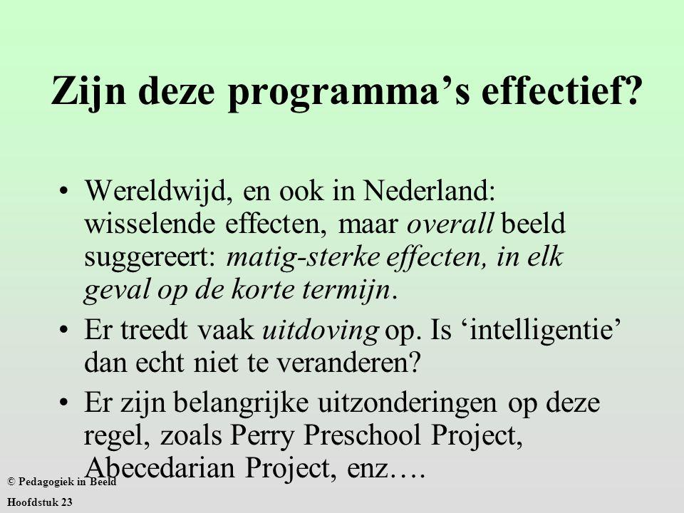 Zijn deze programma's effectief