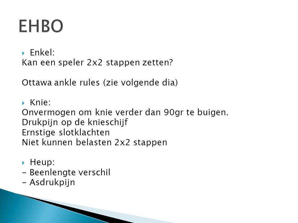 EHBO Enkel: Kan een speler 2x2 stappen zetten