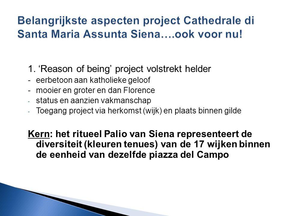 Belangrijkste aspecten project Cathedrale di Santa Maria Assunta Siena….ook voor nu!