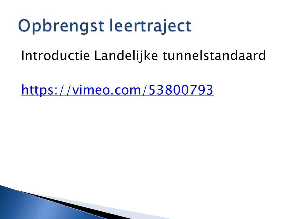 Opbrengst leertraject