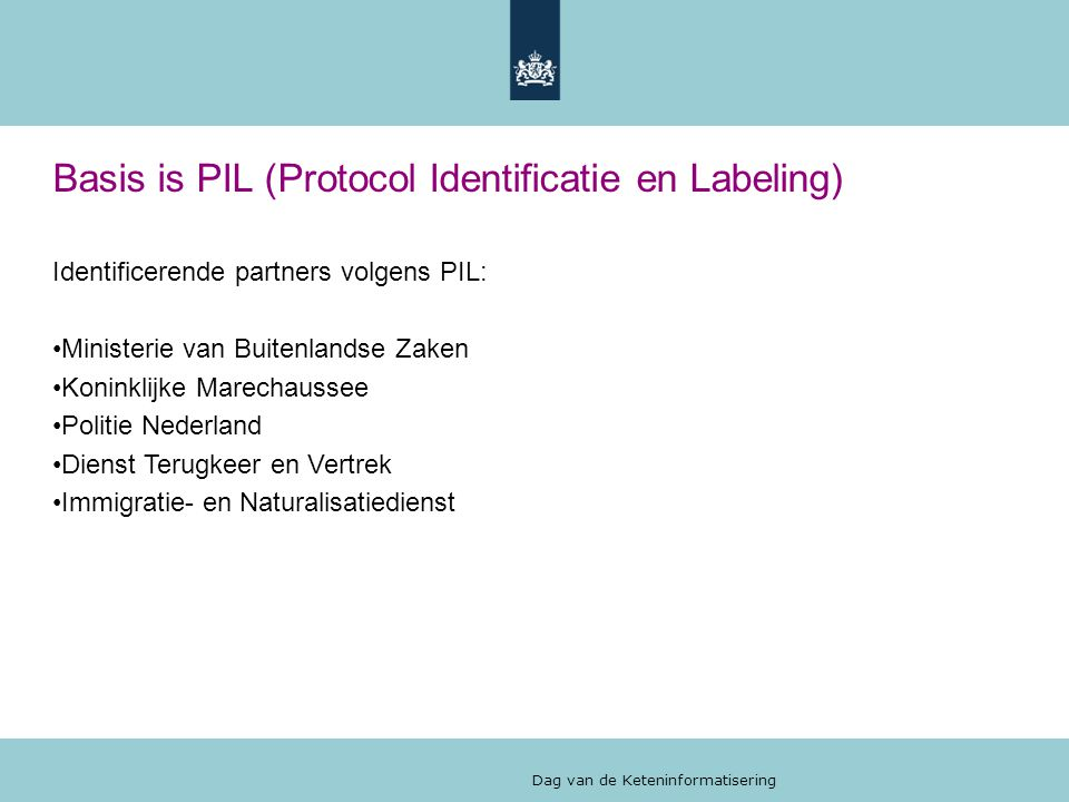 Basis is PIL (Protocol Identificatie en Labeling)