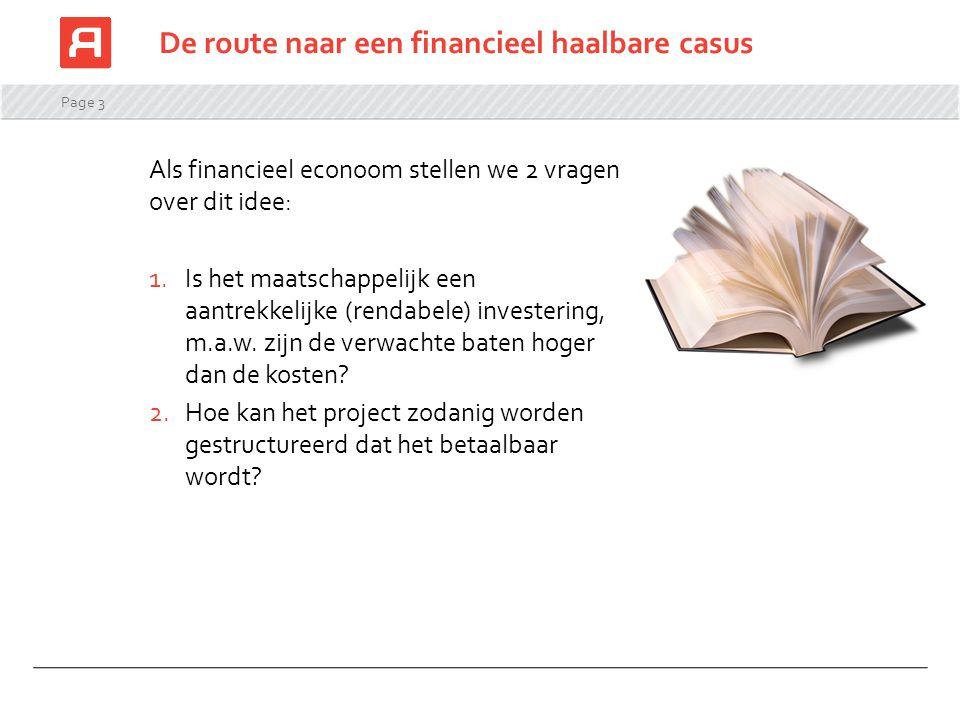 De route naar een financieel haalbare casus