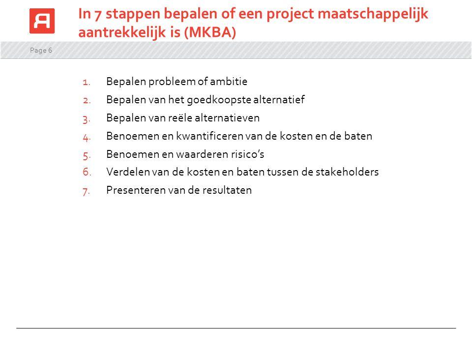 In 7 stappen bepalen of een project maatschappelijk aantrekkelijk is (MKBA)