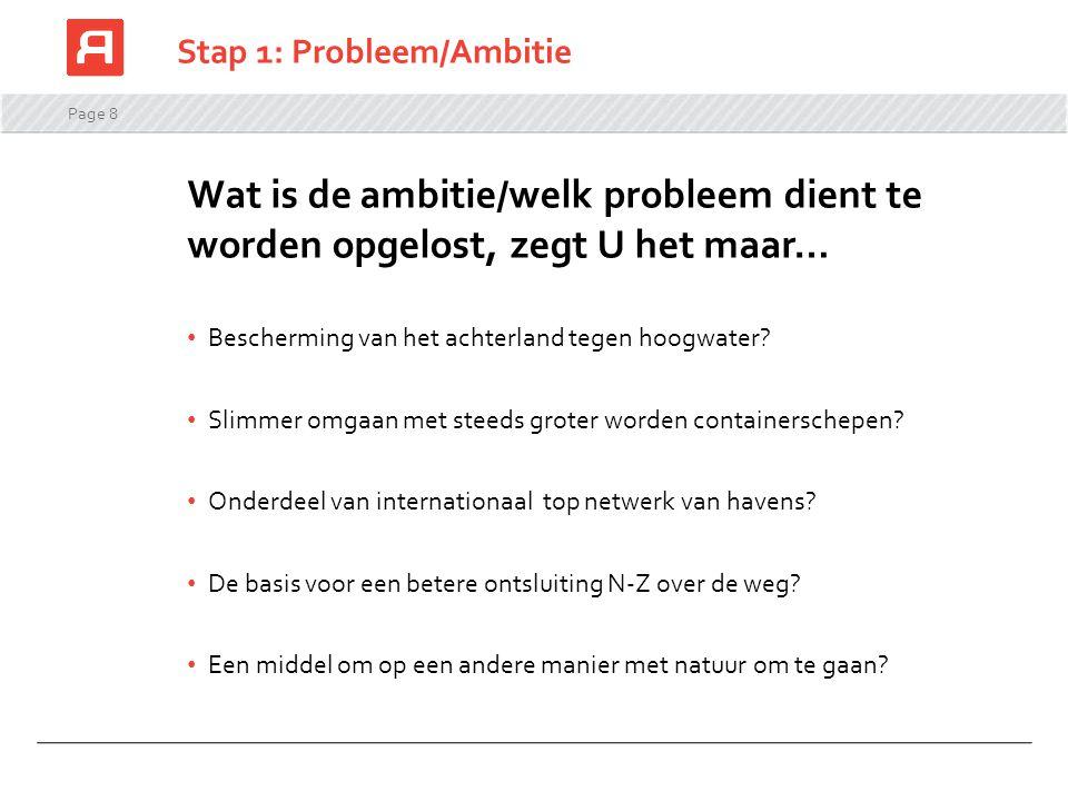 Stap 1: Probleem/Ambitie