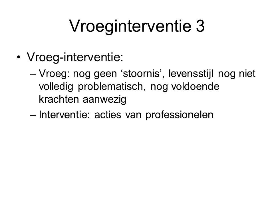 Vroeginterventie 3 Vroeg-interventie: