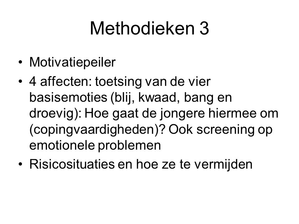Methodieken 3 Motivatiepeiler