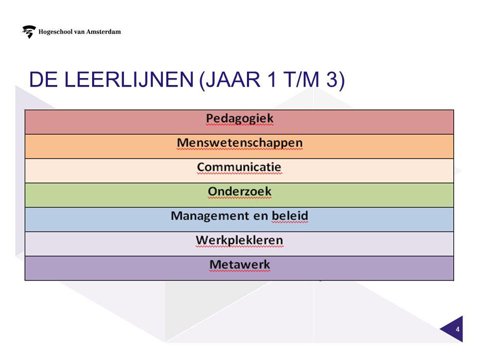 DE LEERLIJNEN (jaar 1 t/m 3)