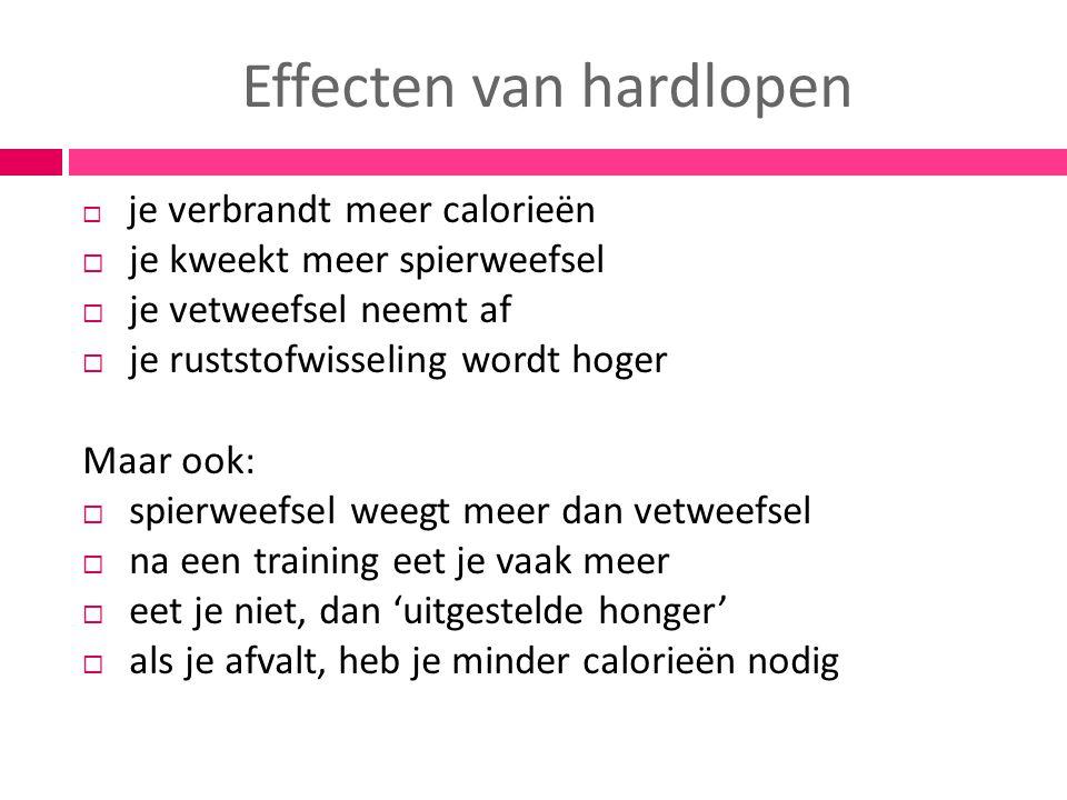Effecten van hardlopen