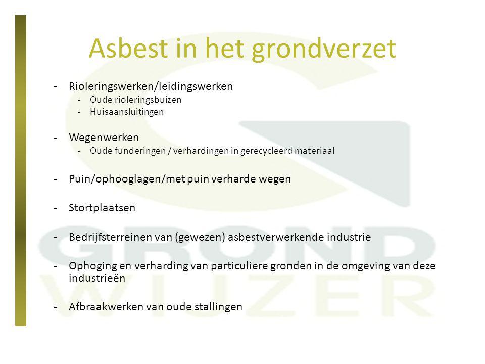 Asbest in het grondverzet
